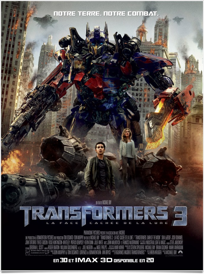 film Transformers 3 : la Face cachée de la Lune en streaming