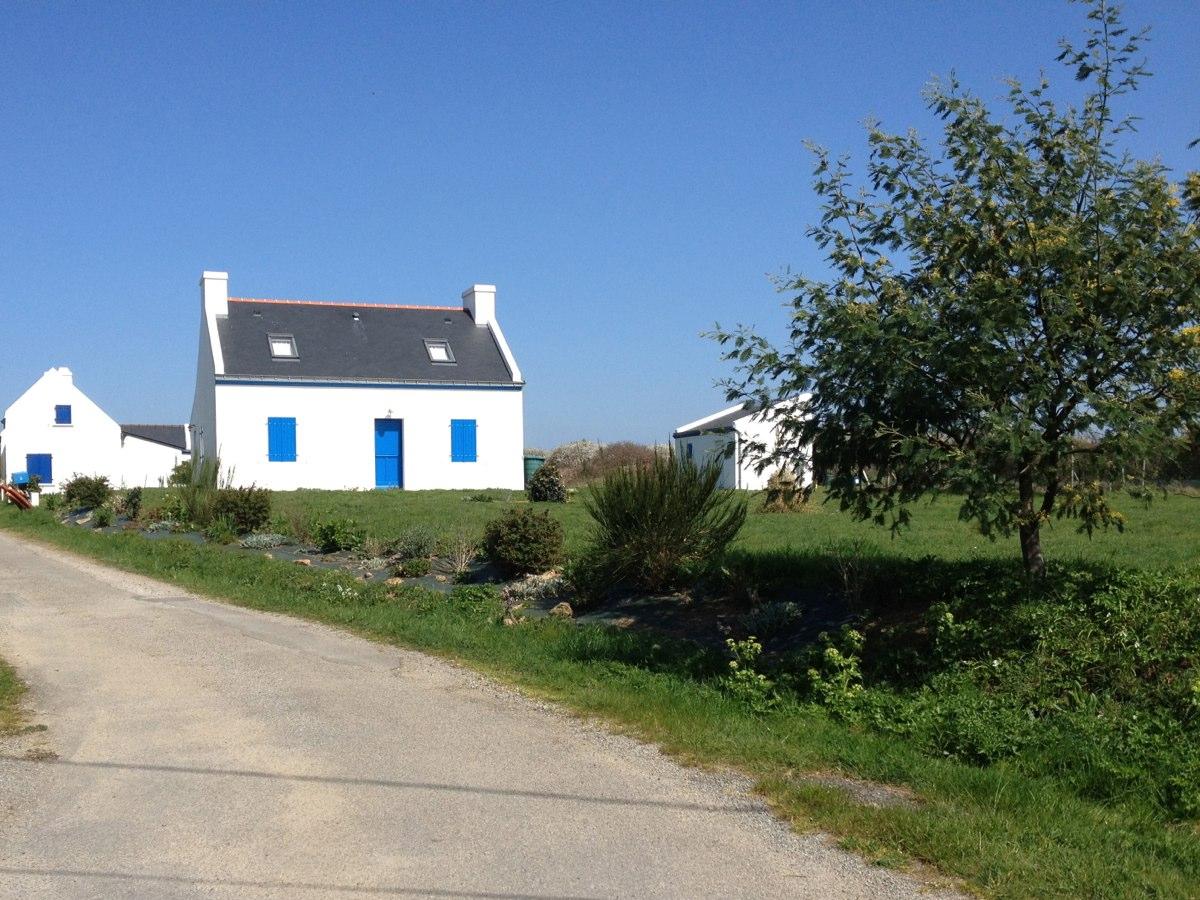 Groix maison volet bleu