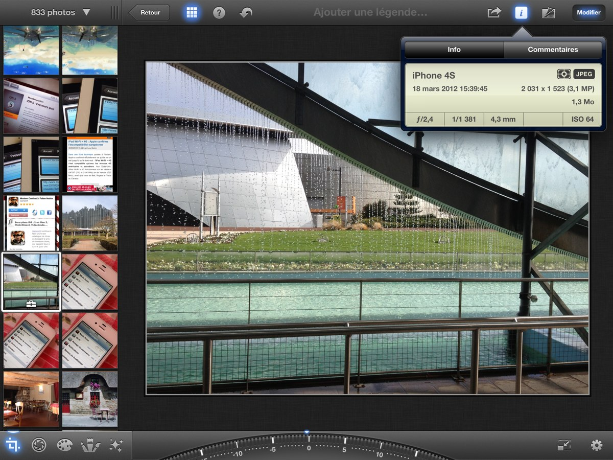 Iphoto nouvel ipad