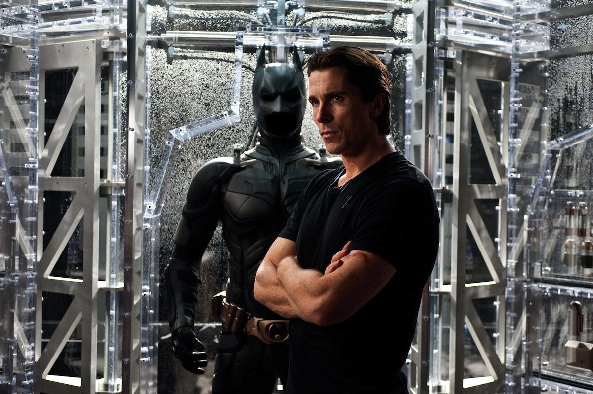 Dark knit rises christian bale