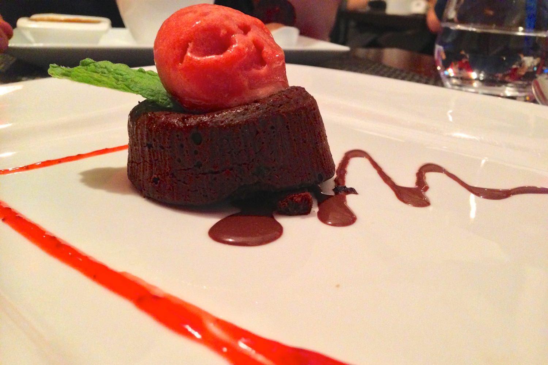 Inattendu dessert gateau minute chocolat