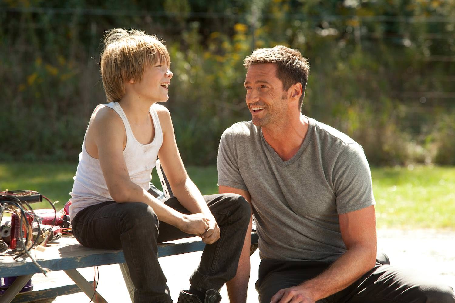 Dakota goyo hugh jackman real steel
