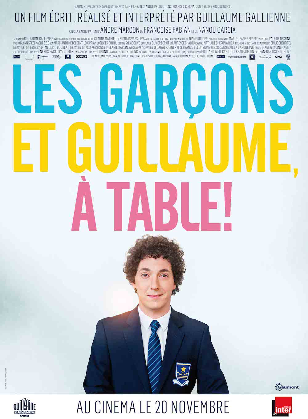 Les garcons et guillaume a table guillaume gallienne