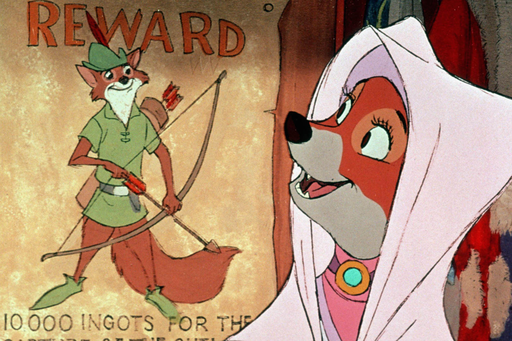 Robin des Bois, Wolfgang Reitherman  À voir et à manger ~ Image Robin Des Bois Disney