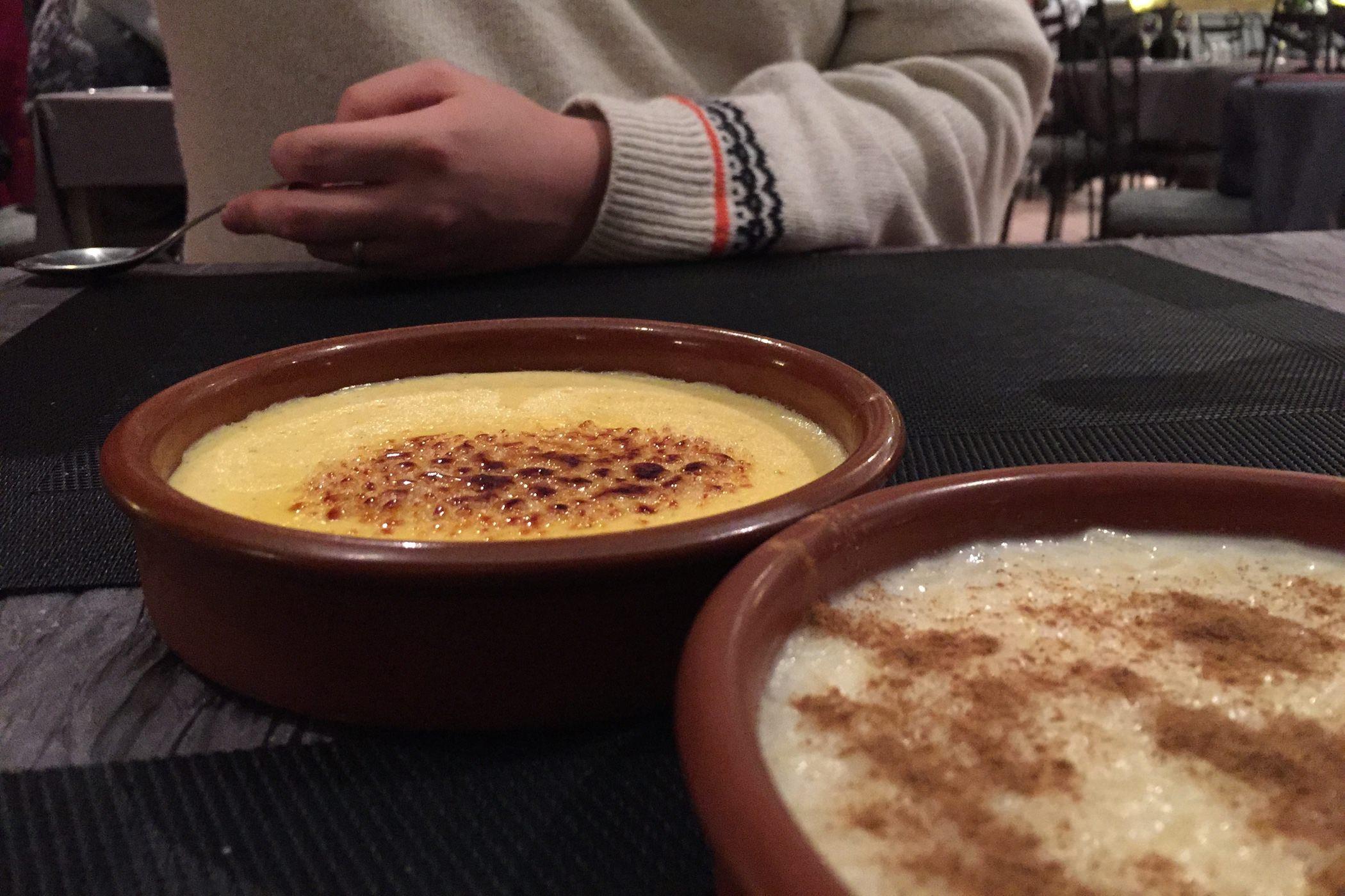 Cantabria creme catalane riz au lait