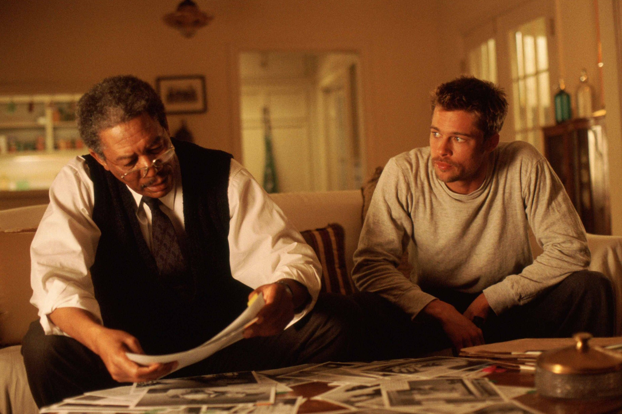 Seven morgan freeman brad pitt