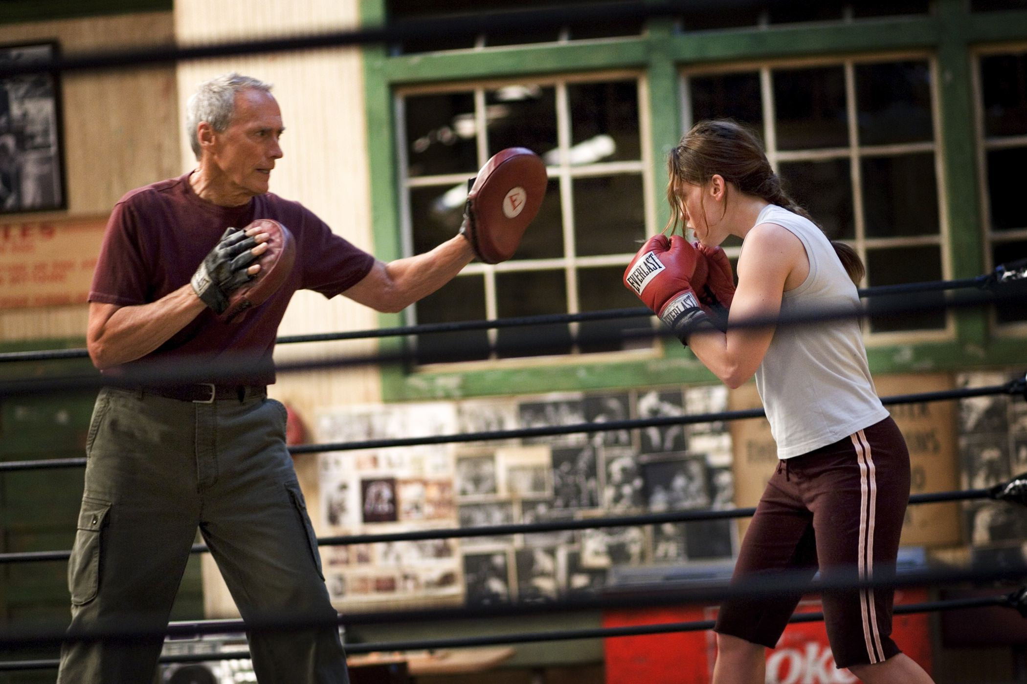 Million dollar baby clint eastwood hillary swank