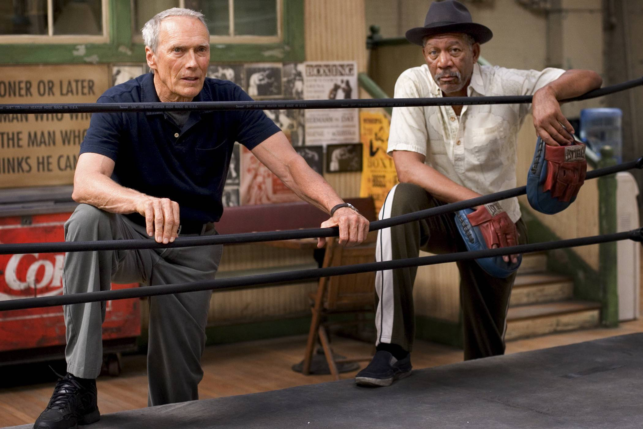 Million dollar baby morgan freeman clint eastwood